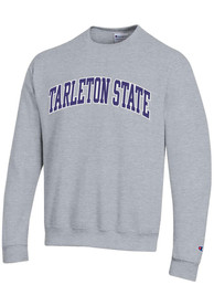 Tarleton State Texans Champion Powerblend Twill Crew Sweatshirt - Grey