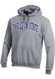 Tarleton State Texans Champion Powerblend Twill Hooded Sweatshirt - Grey