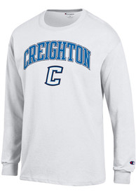 Creighton Bluejays Champion Arch Mascot T Shirt - White