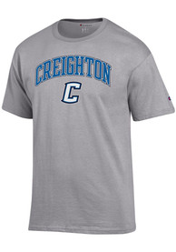 Creighton Bluejays Champion Arch Mascot T Shirt - Grey