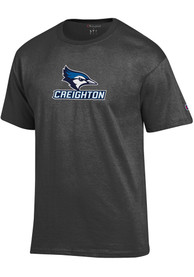 Creighton Bluejays Champion Name Drop T Shirt - Charcoal
