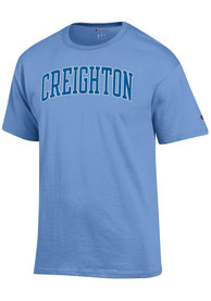 Creighton Bluejays Champion Arch Name T Shirt - Light Blue
