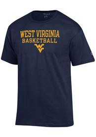 West Virginia Mountaineers Champion Basketball T Shirt - Navy Blue
