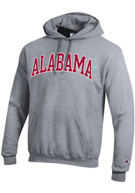 Alabama Crimson Tide Champion Arch Name Hooded Sweatshirt - Grey