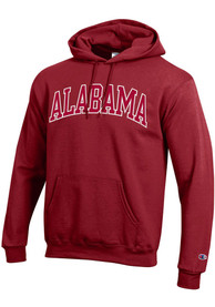 Alabama Crimson Tide Champion Arch Name Hooded Sweatshirt - Crimson