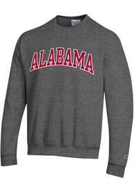 Alabama Crimson Tide Champion Arch Name Crew Sweatshirt - Charcoal