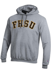 Fort Hays State Tigers Champion Arch Name Hooded Sweatshirt - Grey