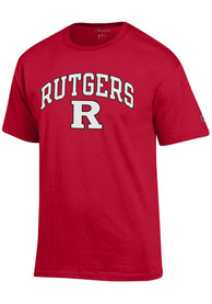 Rutgers Scarlet Knights Champion Arch Mascot T Shirt - Red