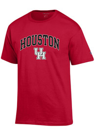 Houston Cougars Champion Arch Mascot T Shirt - Red