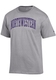 Northwestern Wildcats Champion Arch Name T Shirt - Grey