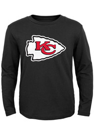 Kansas City Chiefs Youth Black Primary Logo T-Shirt