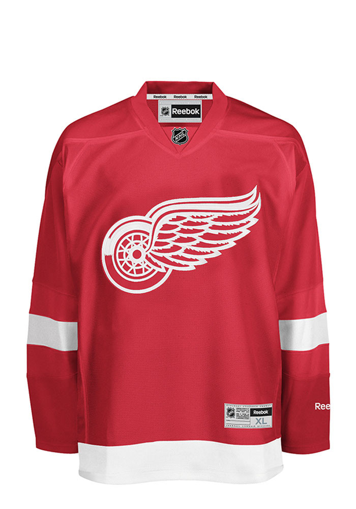 Detroit Red Wings Mens Red Center Ice Premire Hockey Jersey - Image 1