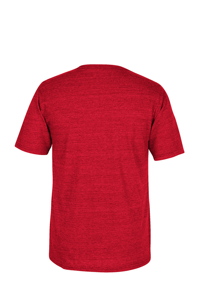 Adidas Chicago Blackhawks Red City Flag Short Sleeve Fashion T Shirt - Image 2