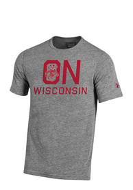 Under Armour Wisconsin Badgers Grey Iconic Tee
