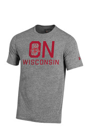 Under Armour Wisconsin Mens Grey Iconic Tee