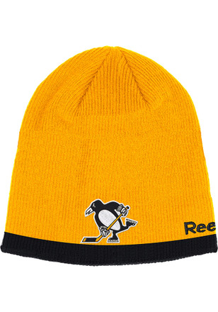Reebok Pittsburgh Penguins Black Player Knit Hat