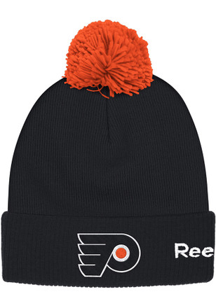 Reebok Philadelphia Flyers Black Goalie Cuffed Knit Hat