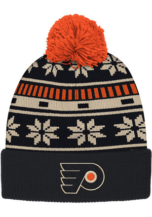 Reebok Philadelphia Black Cuffed Knit Hat