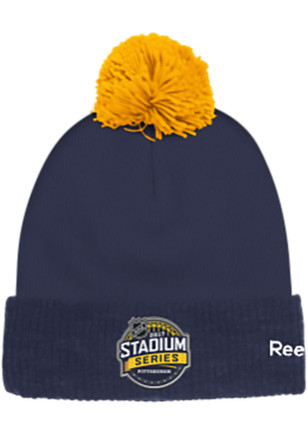 Reebok Pittsburgh Penguins Navy Blue Event Cuffed Knit Hat