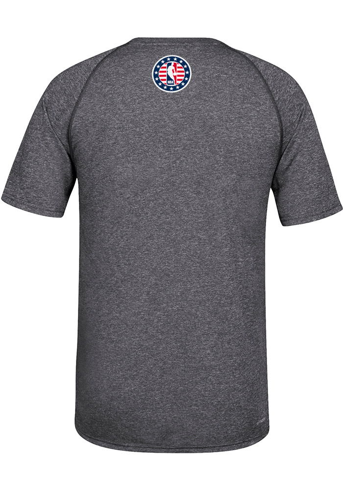 Adidas Cleveland Cavaliers Mens Grey Hoops for Troops Long Sleeve T Shirt - Image 2