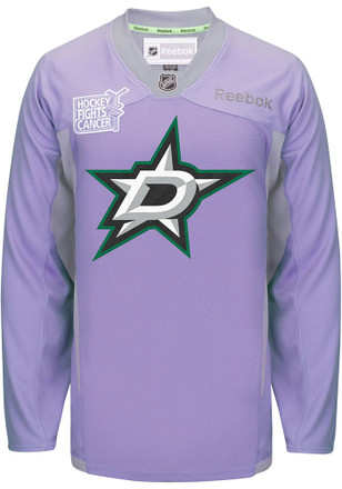 Dallas Stars Mens Purple Hockey Fights Cancer Jersey