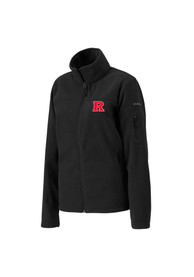 Columbia Rutgers Scarlet Knights Womens Black Give Go Light Weight Jacket