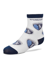 Sporting Kansas City Toddler Allover Logo Quarter Socks - White