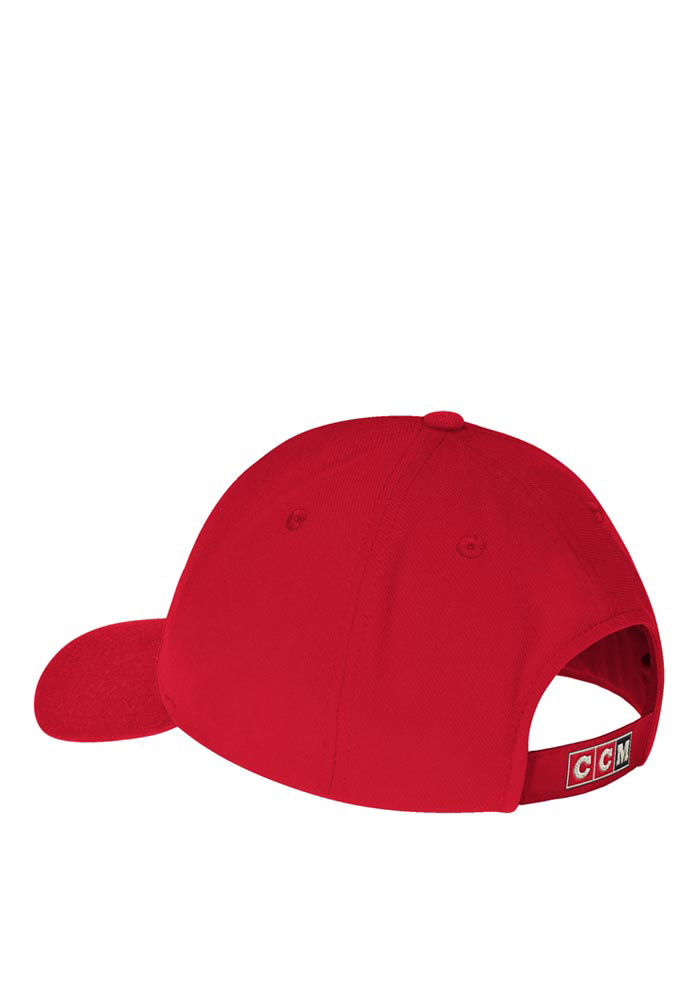 Reebok Detroit Red Wings CCM Striped Adjustable Hat - Red - Image 2