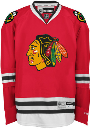 Chicago Blackhawks Mens Red Center Ice Premier Team Jersey