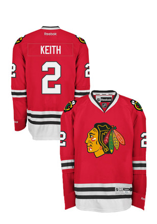 Duncan Keith Chicago Blackhawks Mens Red Center Ice Premier Home Player Jersey