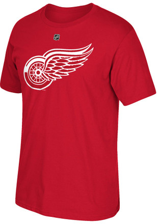 Dylan Larkin Detroit Red Wings Mens Red Premier Name and Number Player Tee