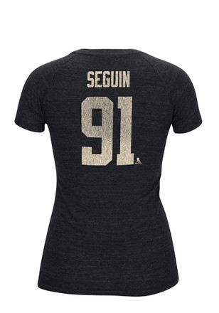 Tyler Seguin Reebok Dallas Stars Womens Black Her CCM Name & Number Player Player Tee