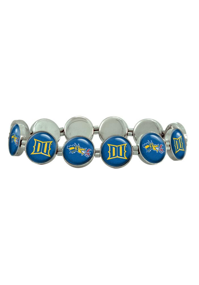 Drexel Dragons Silver Stretch Womens Bracelet - Image 1