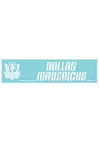 Dallas Mavericks 4x17 White Auto Strip - White