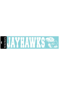 Kansas Jayhawks 4x17 White Auto Strip - White
