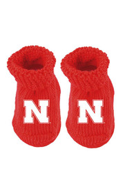 Nebraska Cornhuskers Baby Knit Bootie Boxed Set - Red