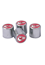 Kansas City Chiefs 4 Pack Auto Accessory Valve Stem Cap
