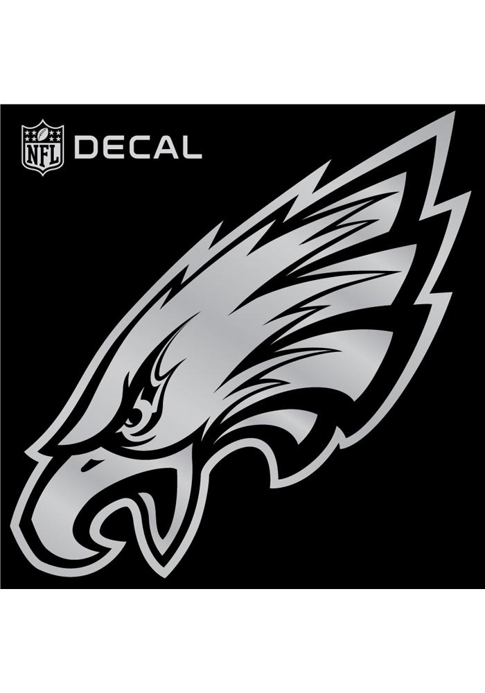 Philadelphia Eagles decal Auto Decal - Silver - Image 1