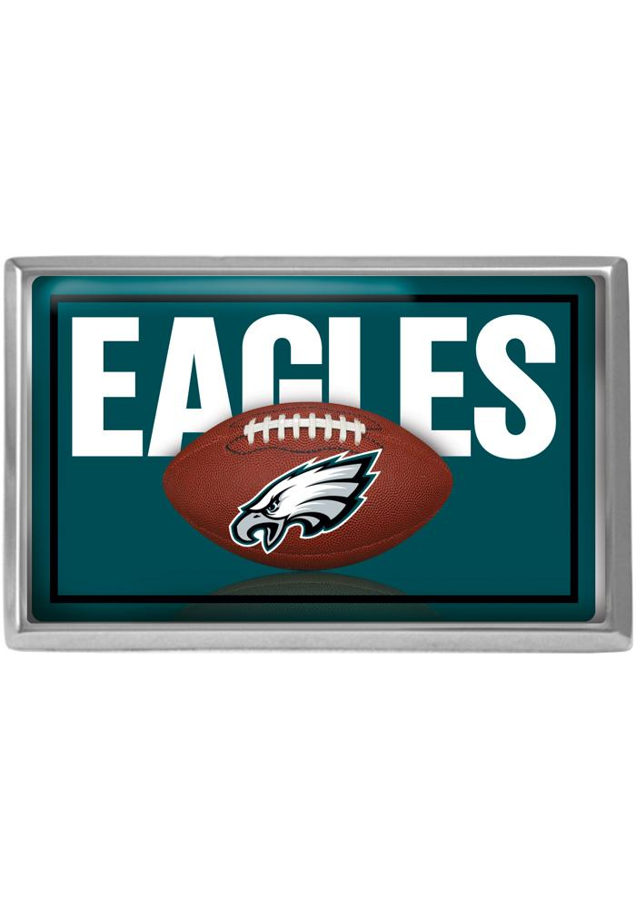 Philadelphia Eagles Rectangle Domed Car Emblem - Midnight Green - Image 1