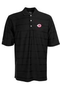 Antigua Cincinnati Reds Black Tone Short Sleeve Polo Shirt