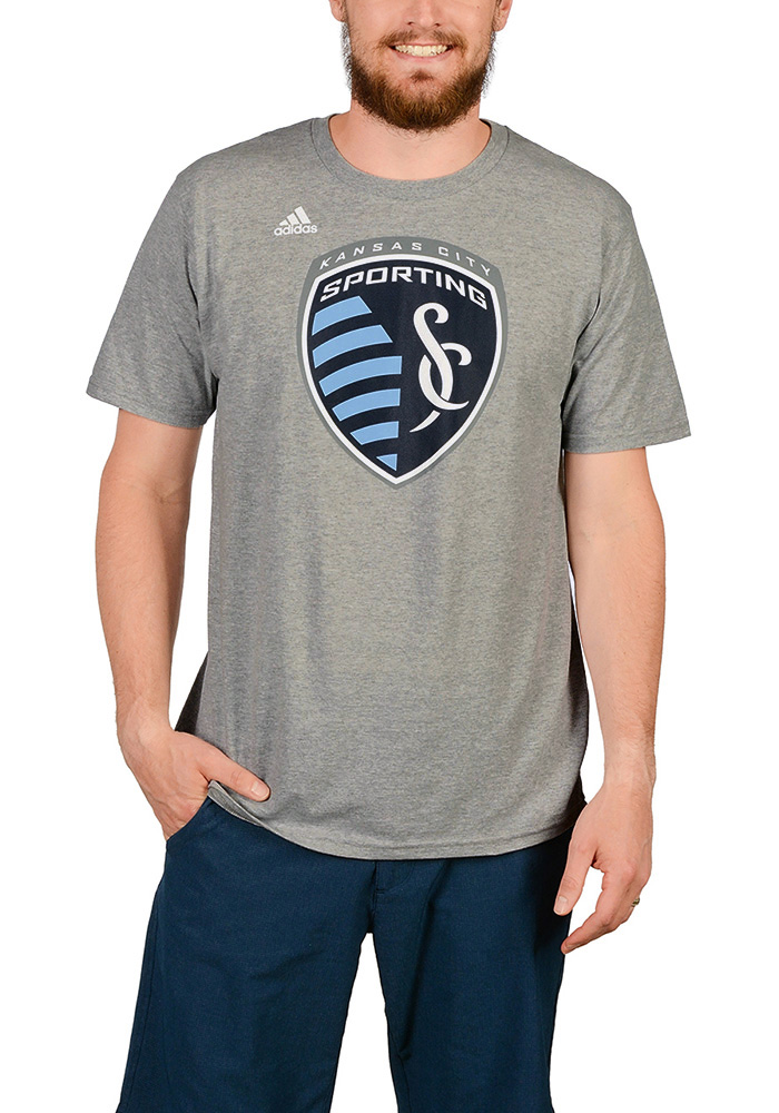 Adidas Sporting Kansas City Grey Logo Set Tee