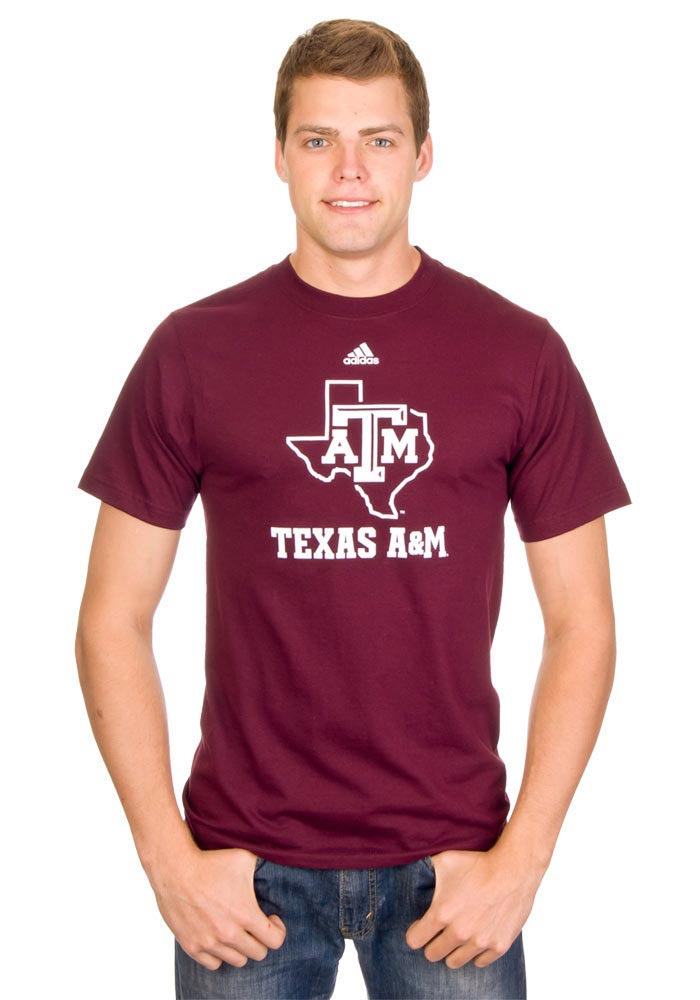 Texas A&M Aggies Adidas Amplifier T Shirt - Maroon