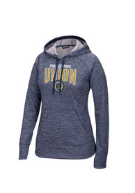 Philadelphia Union Womens Navy Blue Arc Hoodie