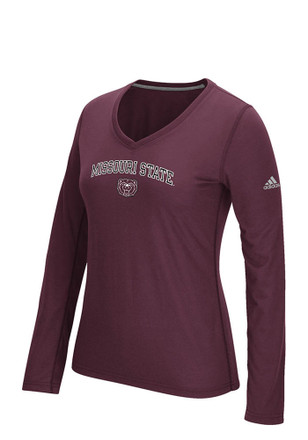 Adidas Mo State Womens Practice Athletics Maroon Performance T