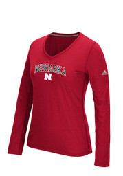 Nebraska Huskers Womens Practice Athletics red Performance T
