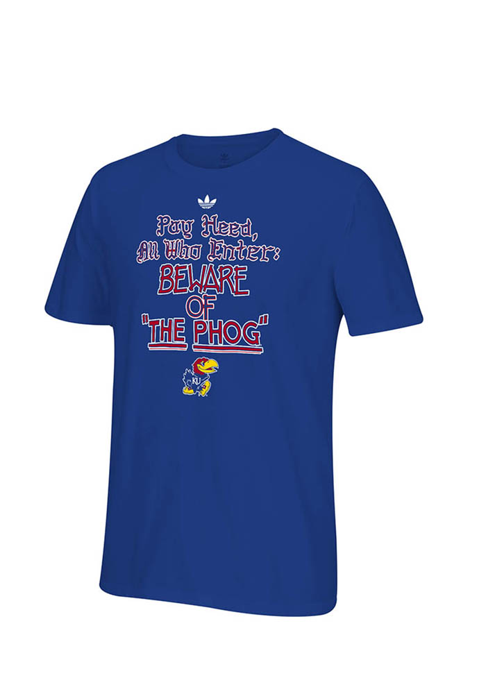 Adidas Kansas Jayhawks Mens Blue Localized Short Sleeve T Shirt - Image 1