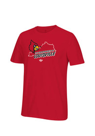 Adidas Louisville Cardinals Red Localized Tee