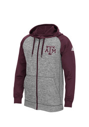 Texas A&M Mens maroon Tech Fleece Zip Performance