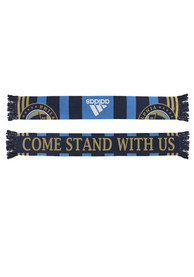 Philadelphia Union Adidas Come Stand With Us Scarf - Navy Blue