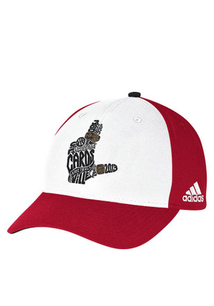 Adidas Louisville Cardinals Mens Red Localized Adjustable Hat